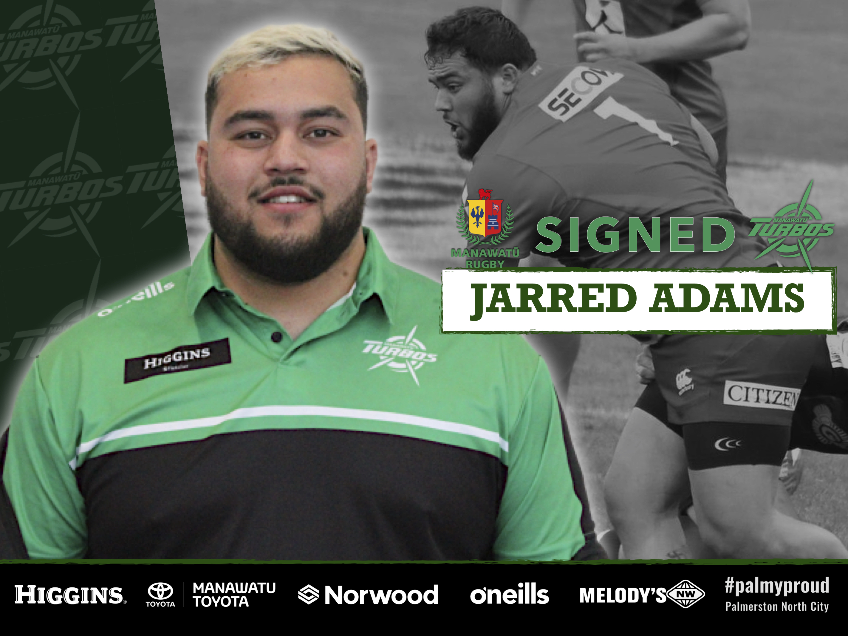 ADAMS SIGNS WITH TURBOS